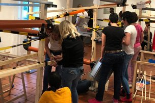 Teambuilding chain reaction, kettenreaktion, impuls reaktionamaufgabe