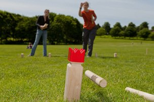Motivationstraining kubb-turnier, wikinger-schach