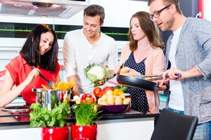 Eventagentur team-kochen, indoor