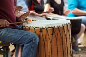 Teamevent team-trommeln, drumming, trommel